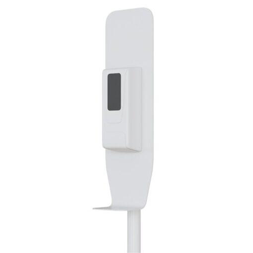 Distributeur de gel hydroalcoolique automatique sur pied blanc coronavirus Covid19 zoom
