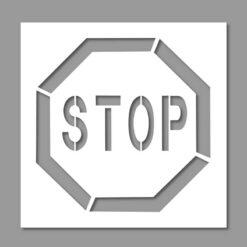Pochoir Stop