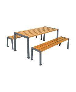 Table de pique-nique Silaos acier et bois