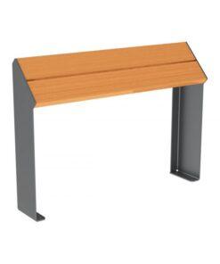 Assis-debout KUB. acier et bois