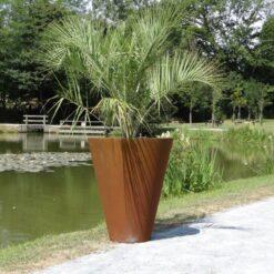 Jardiniere pot vase Corten